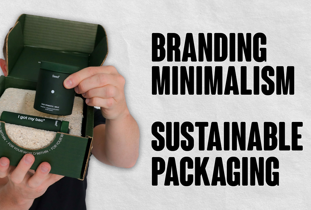 Minimalism and Sustainable Packaging with Seed Probiotics