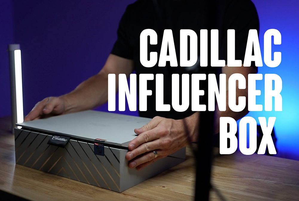 Influencer Box Design for Cadillac Launches Their Electric Vehicles
